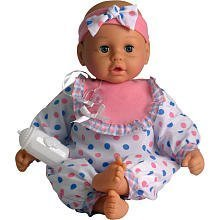 GOLDBERGER AIR BABY UNBELIEVABLE SOFT 19 inch BABY DOLL WITH SPECIAL AIR PILLOWS FOR BABY LIKE SOFTNESS - PINK AND BLUE PLAID- DIFFERENT DESIGNS SENT AT RANDOM by GOLDBERGER