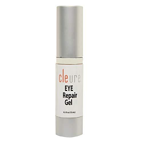 Cleure Hypoallergenic Eye Repair Gel | Fragrance - Gluten - Paraben - Salicylate Free | Advanced Rebuilding Complex with Vitamin C and Fruit Acids | 0.5 Oz
