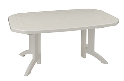 GROSFILLEX Vega Table, Blanc, 165 x 100 x 72 cm