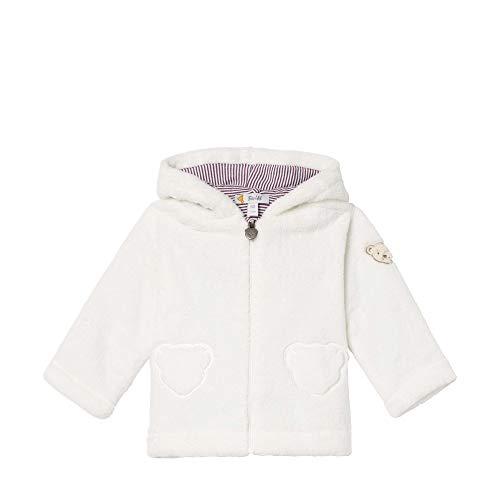 Steiff Baby - Mädchen Jacke , Weiß (CLOUD DANCER 1001) , 74 (Herstellergröße:74)