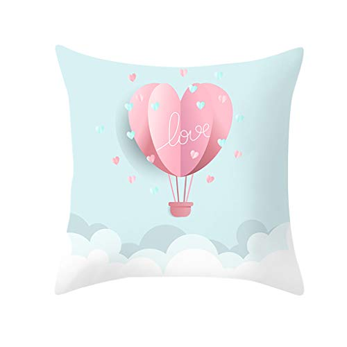 Houshelp Valentines Day Pillow Covers Home Decor Truck Heart and Love Throw Pillows Decorative Cushion Cases 45x45cm