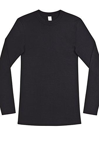 Herren Shirt langarm Dunova Schwarz XL