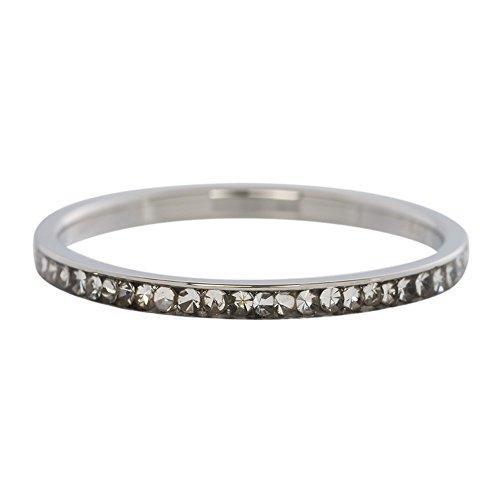 iXXXi Füllring ZIRKONIA KRISTALL silber weiß - 2 mm Größe Ringgröße 21