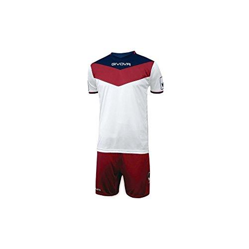 Givova KITC53, Unisex Adulto, Rosso-Bianco, XL
