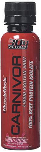 MUSCLEMEDS Carnivor 30g Liquid Protein Shot Fruit Punch, 4 oz