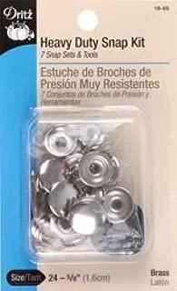 Dritz Bulk Buy Heavy Duty Snap Kit 5/8 inch 7 Pack Nickel 18-65 (2-Pack)