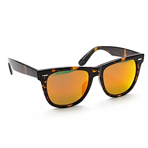 XINMAN Moda Personalidad Anti-Ultravioleta a prueba de viento Gafas de sol tendencia Street Shooting Pareja Sunshade Gafas de sol brillante Bean Curd/Red Crystal Film