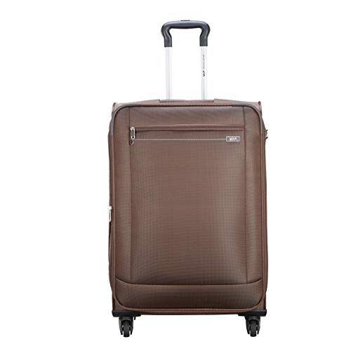 VIP Tide Polyester 70 Cms Brown Softsided Check-in Luggage with Corner Guards & Expander