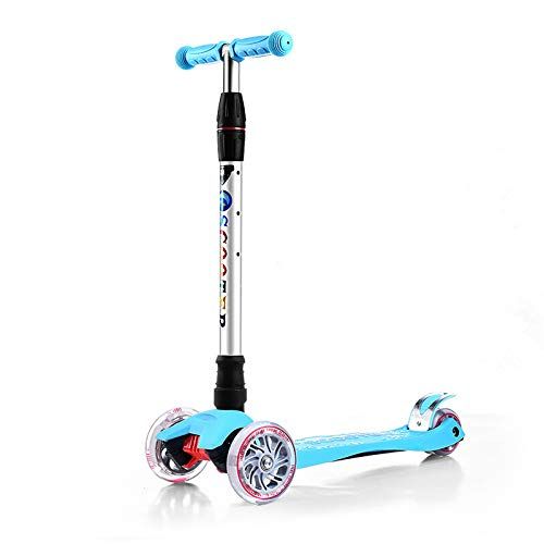 LITIAN Einstellbare Scooter für Kinder Scooter Flash-Scooter Blue