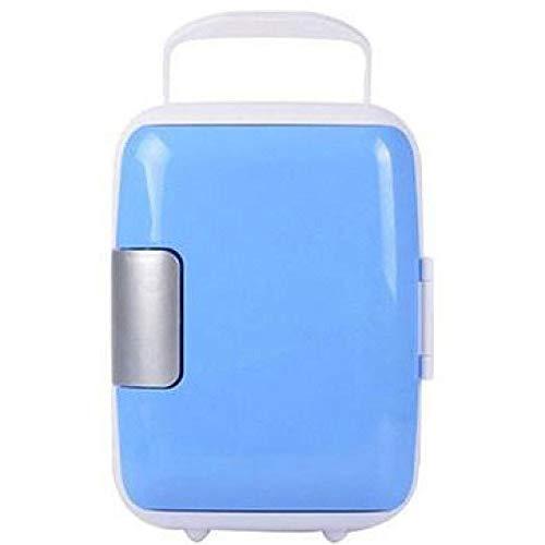 Lieling Mini-koelkast, draagbaar, stille koeling, compact, retro, vrijstaand, 12 V, 220 V, voor auto's, huizen, kantoren en slaapzalen blauw
