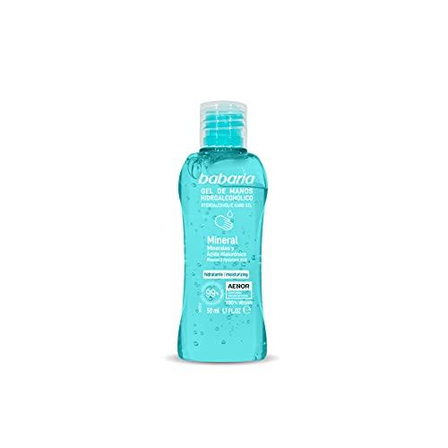 BABARIA Gel de manos hidroalcohólico mineral, 50 ml