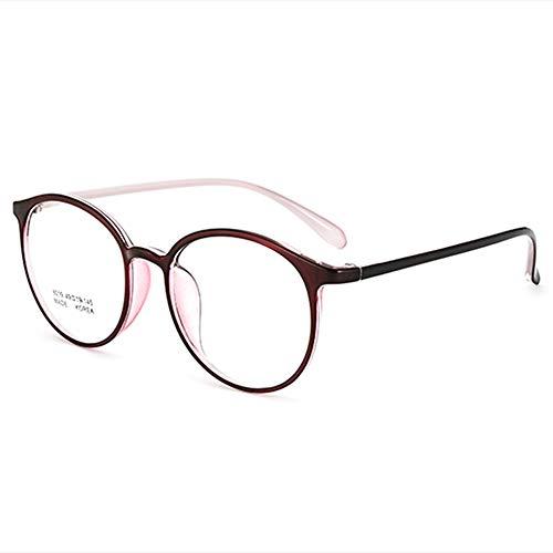 CAOXN Gafas De Lectura Anti-Radiación Azul Ultraligeras para Mujer TR90 Gafas Ópticas Multifocales Inteligentes De Fotograma Completo Dioptrías +1,00 A +3,00,C,+1.00