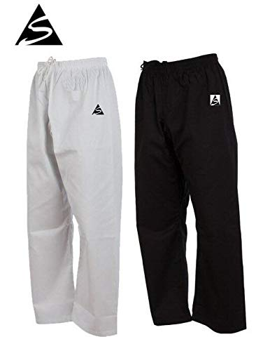 Spirit Separate Cotton Karate Trousers (Black, 000/160cm)
