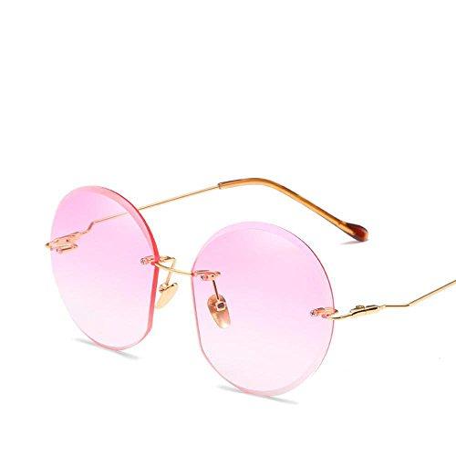 Axiba Geen frame trimmen stalen spiegel benen zonnebril Europa en de Verenigde Staten Lady Ocean film zonnebril met hetzelfde type zonnebril tij creatieve geschenken