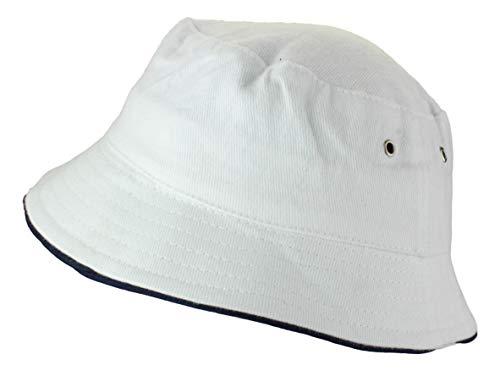 2Store24 Fischerhut in white/navy Größe S/M