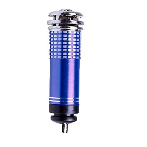 GZA Vehicle Car Air Purifier 6V Mini Car Fresh Air Accessories Ionic Car Ozone Anion Bar Ionizer Cleaner Oxygen Purifier (Color : Blue)