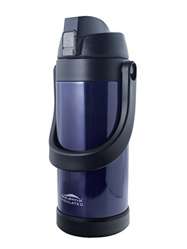 Aquatix Double Wall Insulated Stainless Steel Sport thermos Bottle 68 ounce Midnight Blue