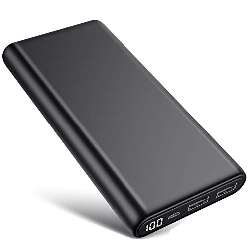 iPosible Power Bank 26800mAh - 100% Digital Display Fast Charging Portable Phone Charger External Battery Pack Power Banks with 2 USB Ports for Smart Phones, Tablet and Other Devices