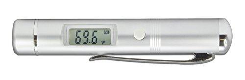 TFA-Dostmann tfa «flash pen thermomètre infrarouge 31,1125, pour la mesure sans contact de la température de surface, boîtier en métal durable avec clip