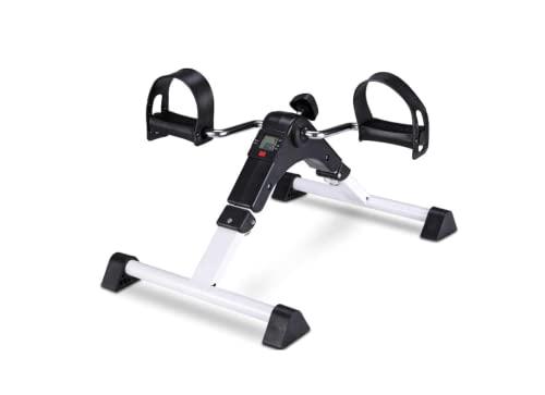 Mini Bicicleta Estática Plegable - Pedales Estáticos Ejercicio - Aparato de Ejercicio en Casa - Máquina Pedalear Manos y Piernas - Nueva Version (BLANCO MINI BICI)