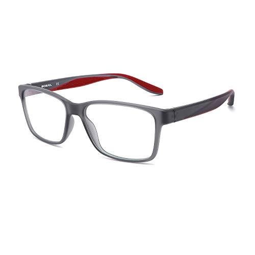 BOSAIL Blaulichtfilter Brille für Damen und Herren,ohne Sehstärke,Sehr leicht TR90 Groß, Blaufilter Brille für Gaming mit Brillenetuis