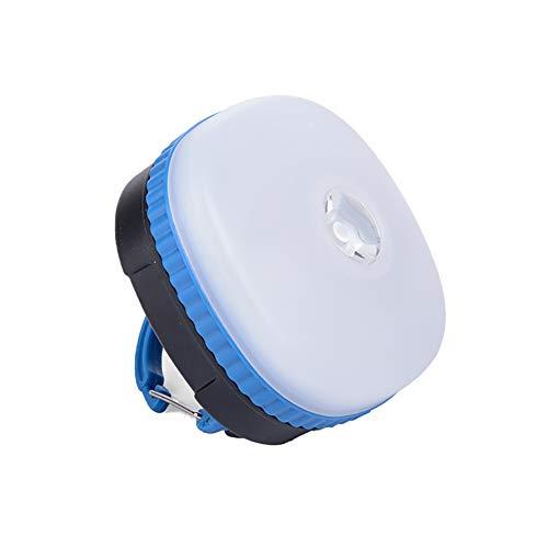 Linterna de campamento recargable LED Luces al aire libre Luz de emergencia, luz de la tienda de campaña resistente al agua para acampar, senderismo, pescar, cortes de poder y más (Color : Azul)