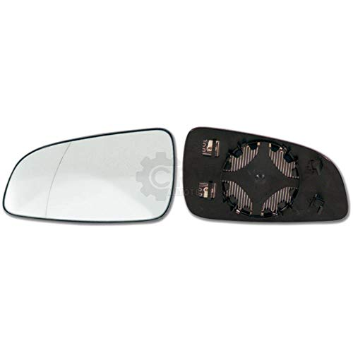 Spiegelglas + Haltefuss Links für ASTRA H asphärisch beheizbar Außenspiegel