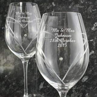 Set di 2 Bicchieri da Champagne in Cristallo Swarovski/® Merandi Verus 240 ml