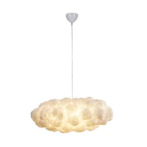 DYXYH Candelabro de Nubes Blancas Creativas, luz de Seda, algodón, Nube, lámpara Colgante de suspensión LED para habitación de niños, guardería
