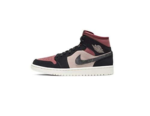 Nike Wmns Air Jordan 1 Mid, Zapatillas de bsquetbol Mujer, Particle Beige Black Canyon Rust Sail BRT Mango, 40 EU