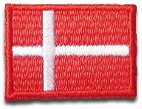 デンマーク 国旗 アイロン ワッペン (ミニ 約33x24mm)