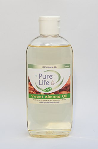 Sweet Almond Oil - Pure & Natural Massage Carrier Oil Cold Pressed (200ml)