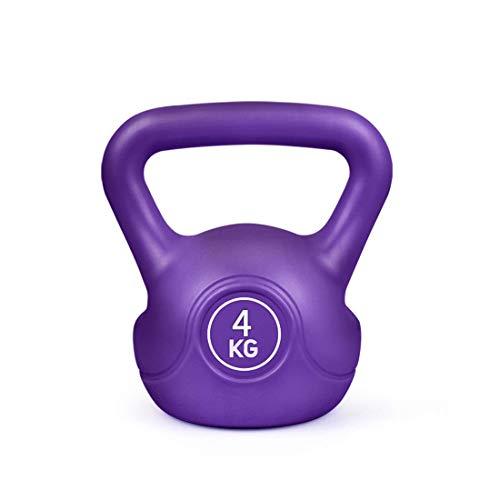 Kettlebell Pesi Set, 2kg, 4KG, 6kg, 8kg, ghisa rivestiti in gomma Kettlebell for Uomo e Donna, Colore Bilanciere Set Home Gym Esercizio Fitness Forza di formazione ( Color : Natural , Size : 8KG )