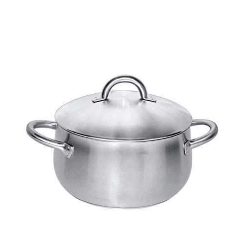 Ménage À Domicile 304 En Acier Inoxydable Épaissie Cuisinière À Soupe Pot De Soupe Shabu-Shabu Arc De Soupe 24cm
