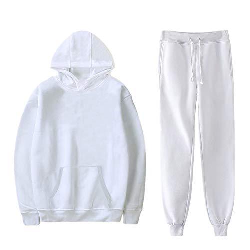 N\P Sudadera cálida para hombre, chaqueta de dos piezas Blanco XXXXXXL