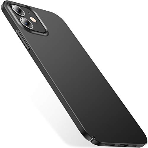 CASEKOO Slim Fit Compatible with iPhone 12 Case, Designed for iPhone 12 Pro Case 6.1 inch 5G (2020), [Ultra Thin] Silky Soft Touch Hard PC Matte Finish Grip Protective Phone Cover- Graphite Black