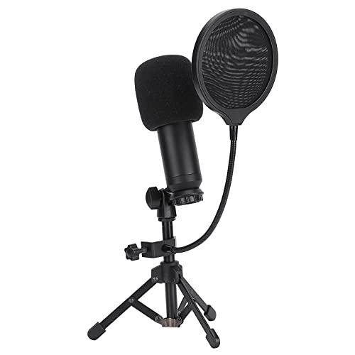 Gaeirt Juego de micrófono, señales de interferencia de blindaje de micrófono de Escritorio con Soporte Ajustable para transmisión en Vivo para Juegos de computadora en el hogar para Estudio