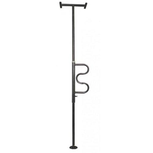 Security Pole opstahulp (met handgreep, bevestiging tussen vloer en plafond (zwarte afwerking))