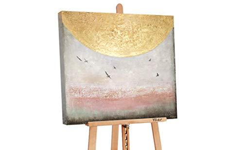 YS-Art Premium | Cuadro Acrílico Energía del Sol II | Pintado a Mano | Arte Moderno | Lienzo De Pared | único | Multicolor | PS080 (100 x 100 cm)