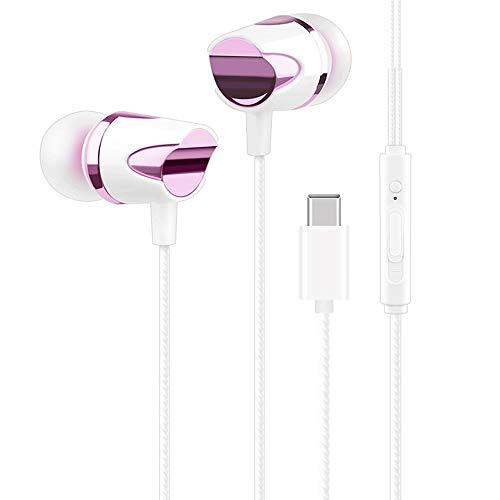 OverTop Tragbarer USB-C-In-Ear-Kopfhörer mit Mikrofon, Violett