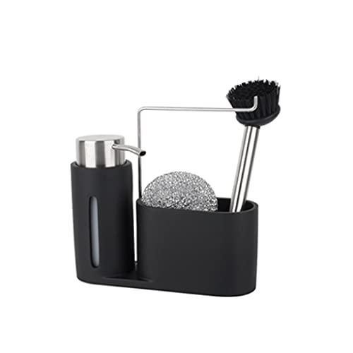 Hogar cocina Baño Dispensadores de jabón Dispensador de jabón del fregadero de tipo pulido manual Encimera de la cocina (conjunto de cuatro piezas: Base + Dispensador de jabón + bola de alambre de ace