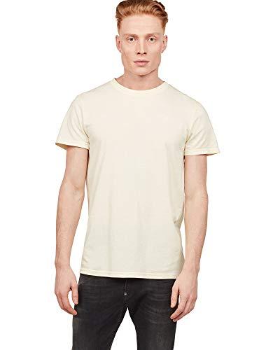 G-Star de los Hombres Camiseta de Tinte Reciclado, Amarillo