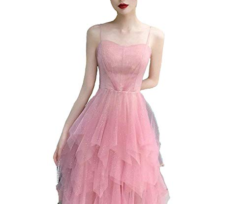 DIBAO Vestido de cóctel de señoras Vestido de cóctel Rosado Hermosas Correas de Espaguetis Afrodisiac Banquete Partido Vestidos Backless Sexy Homecoming Preen (Color : Pink, US Size : 8)