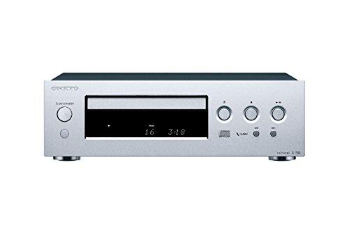 Onkyo C-755 Compact Disc-Player (AKM  192-kHz-/24-Bit-DA-Wandler, 25 Titel programmierbar, 3 Stufen dimmbares Display, Zufalls- und Wiederholungswiedergabe) Silber