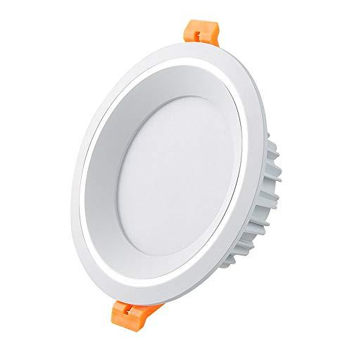 Luz de trabajo Contador de aluminio blanco Dedicado Showcase Jewelry Spotlight Ultra Slim Creative Ronda DIRIGIÓ Tienda de techo del panel Tienda de ropa europea Tienda de ropa Grille incorporado inco