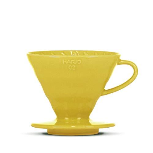 HARIO V60 - Filtro de café (porcelana, tamaño 02), color amarillo
