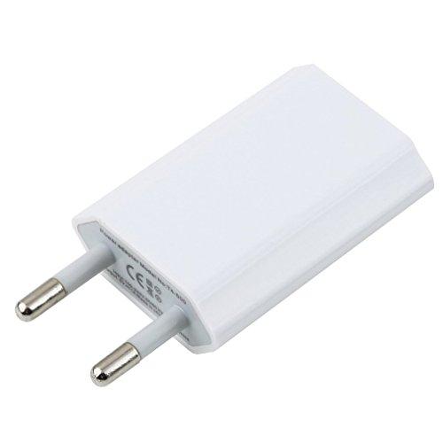 ASFD Diseño de Placa de Circuito Patentado portátil USB Adaptador de Cargador de Pared para el hogar con alimentación para teléfono móvil para iPhone 3G 3GS 4 4S Enchufe de la UE (Blanco UE)