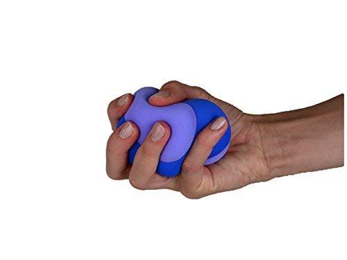 TPE-Multifunktionsball, Set mit 3 Bällen, super soft , Stressball, Antistressball, Jonglierbälle, Handballenauflage, Mauskissen, Therapieball, Relaxball, Handgymnastikball, Ø 8cm, waschbar