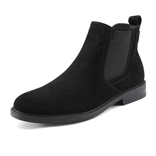Bruno Marc Men's Black Suede Chelsea Ankle Boots Size 12 M US Lg19002m