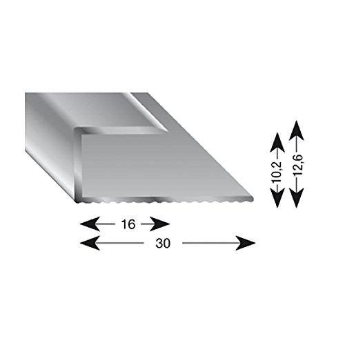 kügele gleitabsc hluss Perfil U aluminio plata anodizado 10/1000mm, 1pieza, 11100S 100